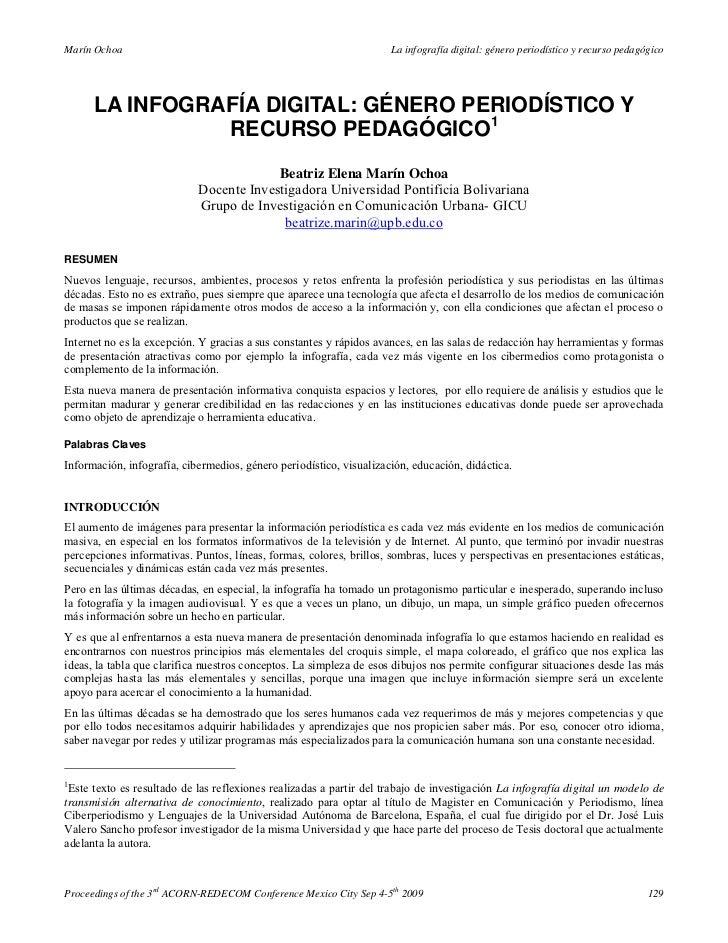 Marín Ochoa                                                          La infografía digital: género periodístico y recurso ...