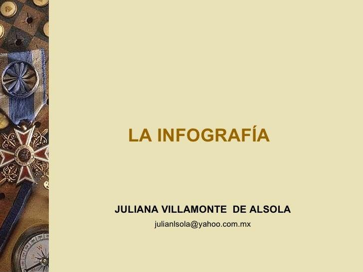 LA INFOGRAFÍA JULIANA VILLAMONTE  DE ALSOLA [email_address]