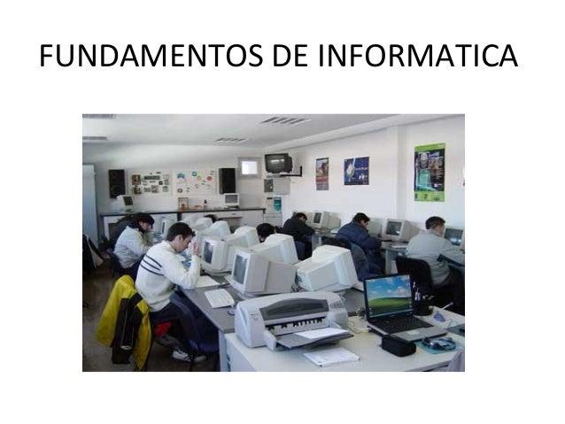 FUNDAMENTOS DE INFORMATICA