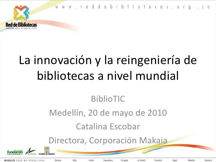 La innovacion en bibliotecas, makaia