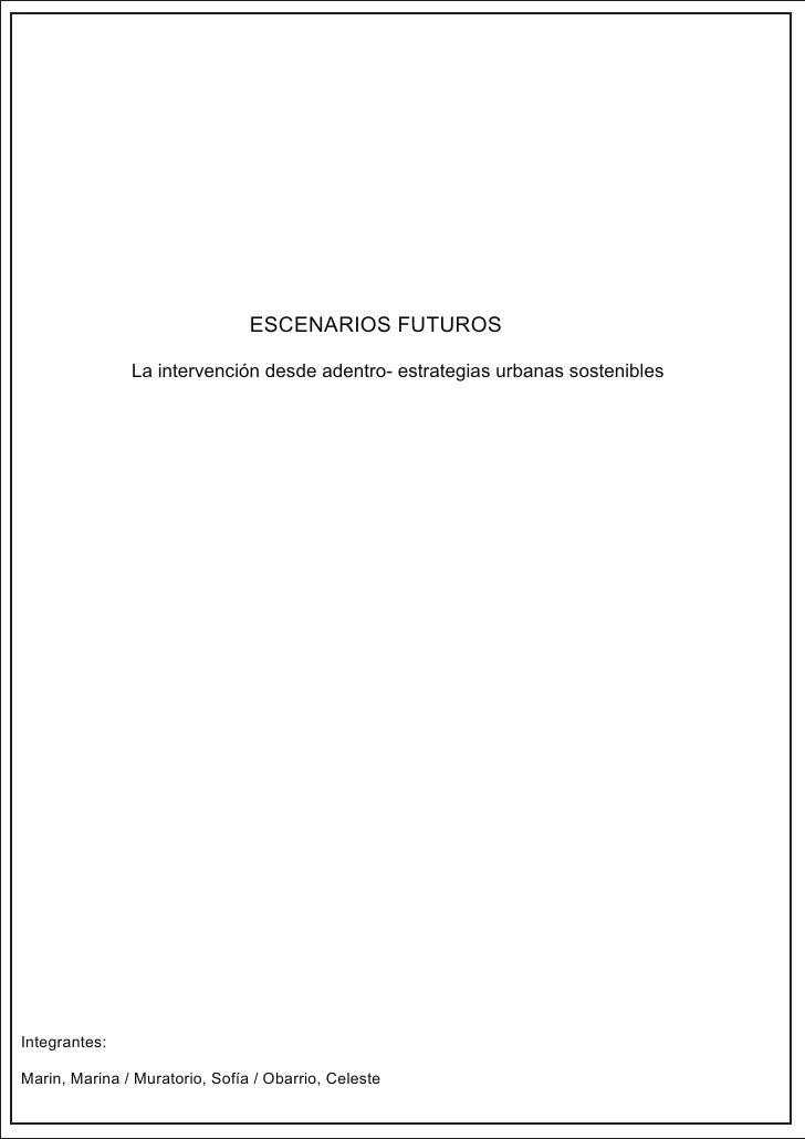 La IntervencióN Desde Adentro Estrategias Urbanas Sostenibles Marin Muratorio Obarrio
