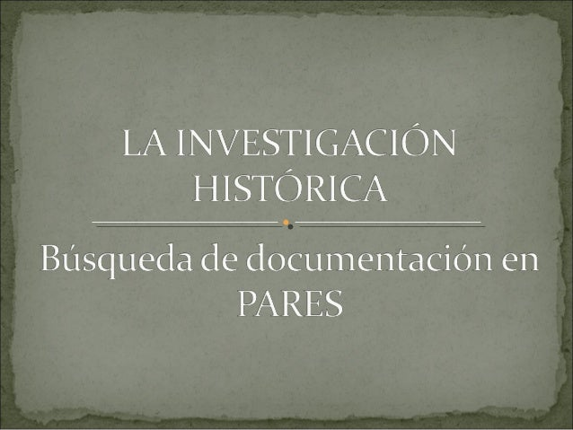 Para desarrollar una investigación histórica podemos utilizar una gran variedad de materiales: imágenes, archivos sonoros,...