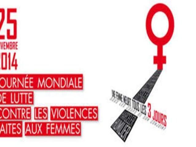 """La """"Journée internationale pour l'élimination  des violences à l'égard des femmes"""" a été  instaurée le 25 novembre 1999 pa..."""