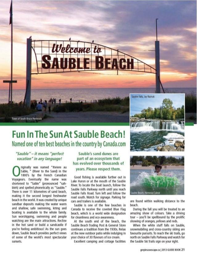 Lake Huron Shoreline | 2013 Grey Bruce Escape magazine