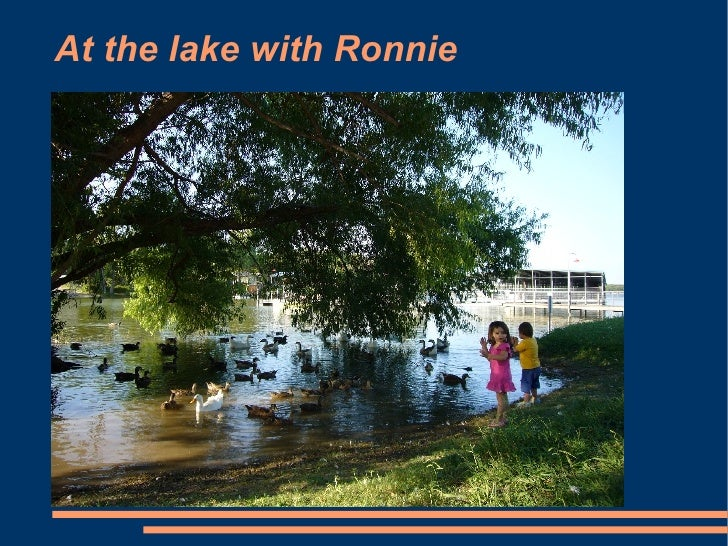 At the lake with Ronnie