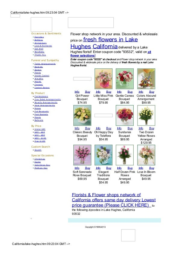 California/lake-hughes.htm 09:23:04 GMT -->               Occasions & Sentiments          Flower shop network in your area...