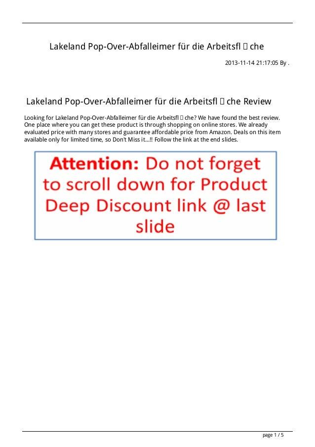 Lakeland Pop-Over-Abfalleimer für die Arbeitsfläche 2013-11-14 21:17:05 By .  Lakeland Pop-Over-Abfalleimer für die Arbeit...
