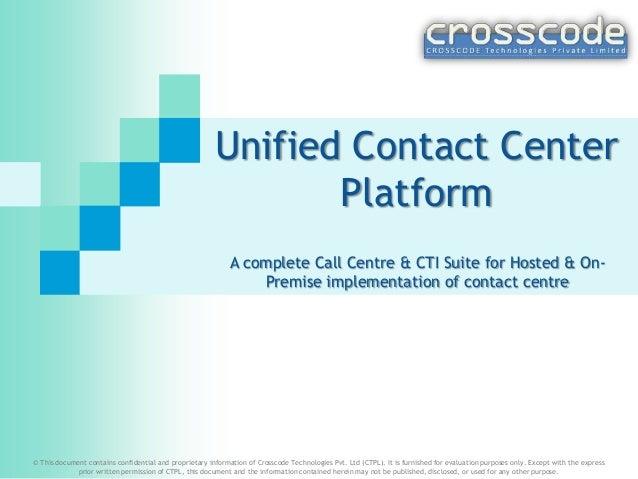 CommTEL Call Centre platform & software suite (PDF)