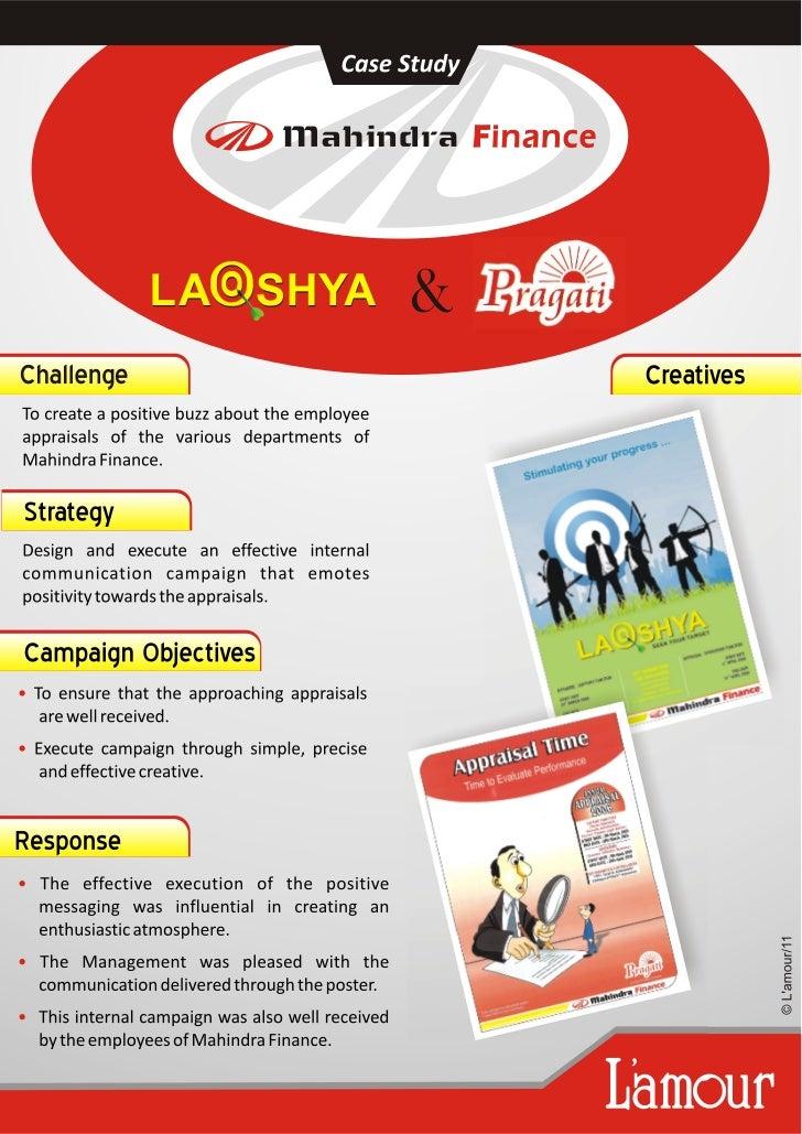 Lakshya & Pragati campaign of Mahindra Finance