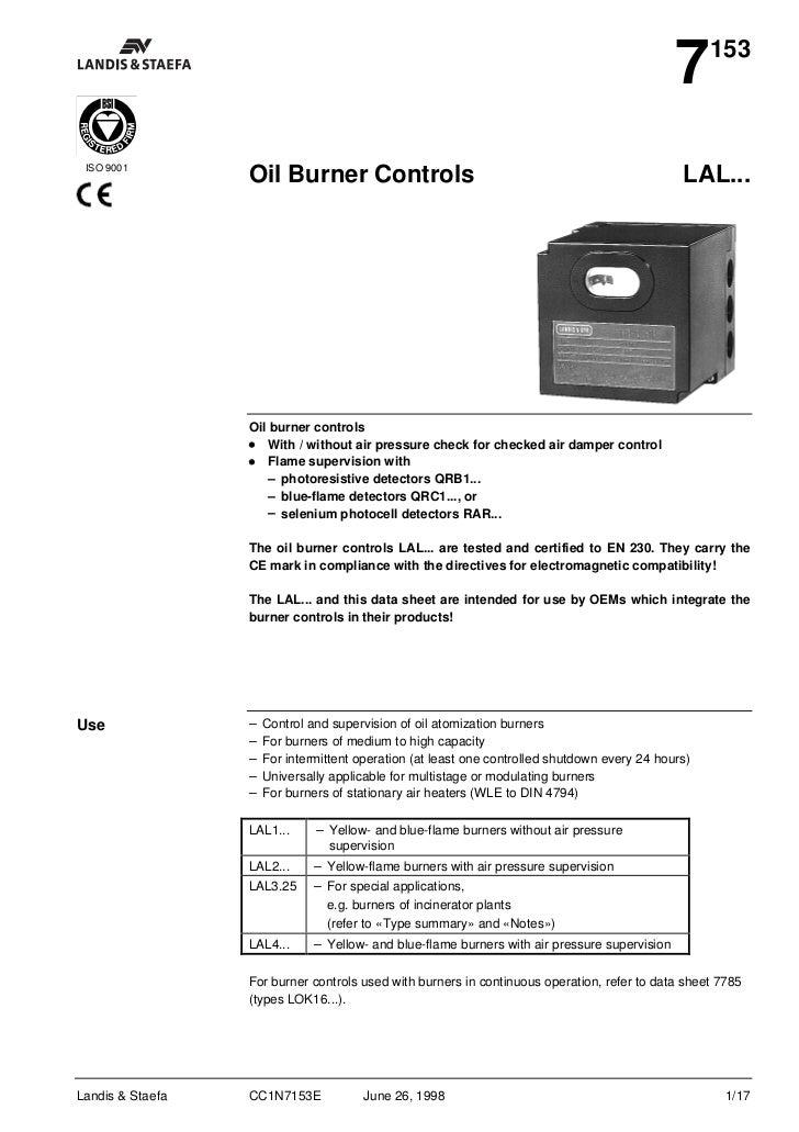 7    153 ISO 9001                  Oil Burner Controls                                                           LAL...   ...