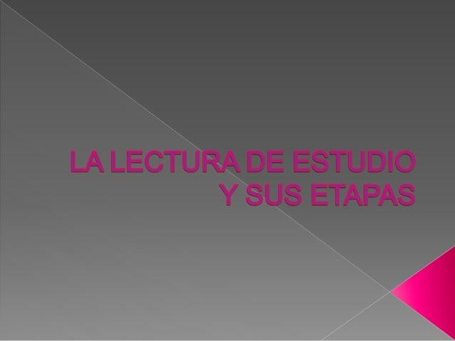 Según Eugenio Núñez Ang, esta lectura se utiliza para aprender, para obtener un alto nivel de comprensión y penetrar a f...