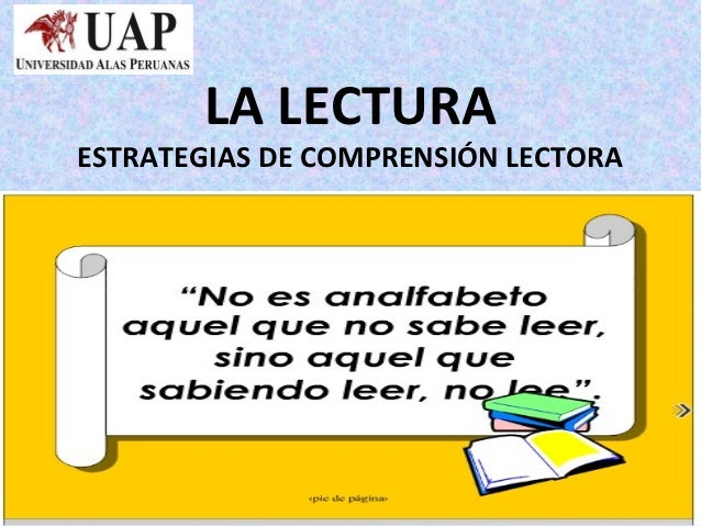 LA LECTURAESTRATEGIAS DE COMPRENSIÓN LECTORA