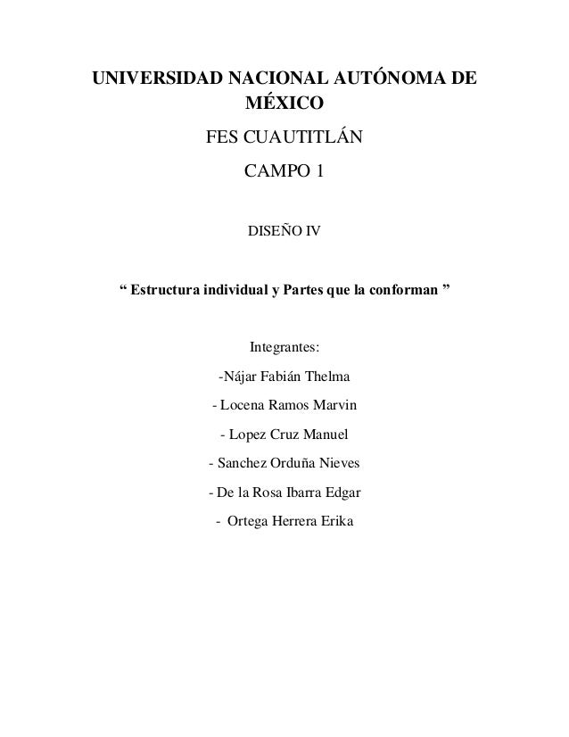 UNIVERSIDAD NACIONAL AUTÓNOMA DE             MÉXICO               FES CUAUTITLÁN                     CAMPO 1              ...