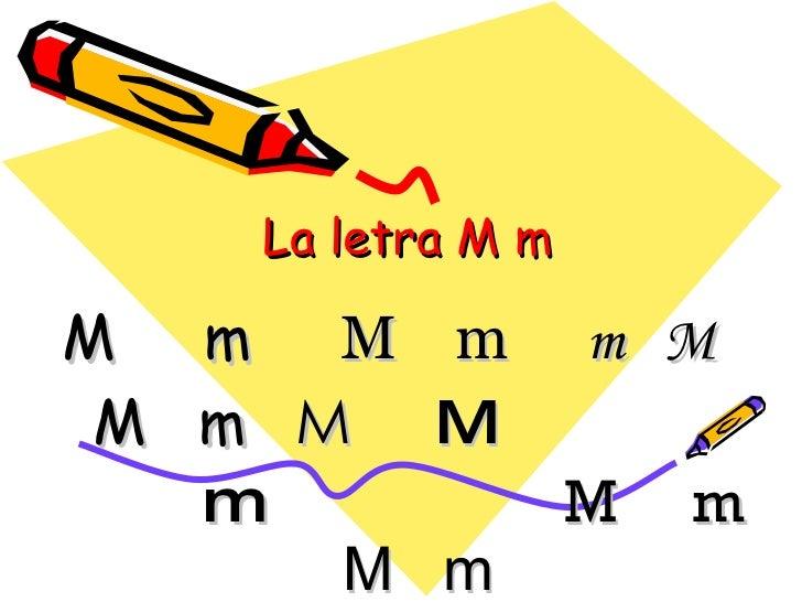 La letra M m