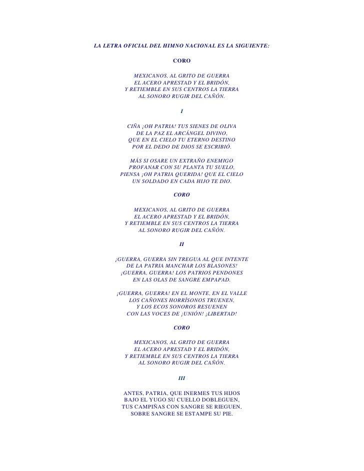 letra del himno espanol: