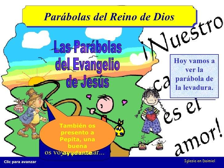 Iglesia en Daimiel Hola, chicos (as), os voy a presentar... Las Parábolas  del Evangelio  de Jesús Parábolas del Reino de ...