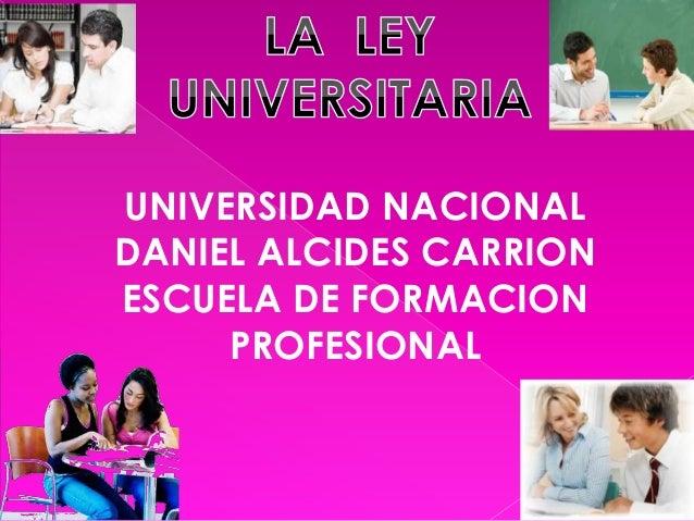 UNIVERSIDAD NACIONAL DANIEL ALCIDES CARRION ESCUELA DE FORMACION PROFESIONAL