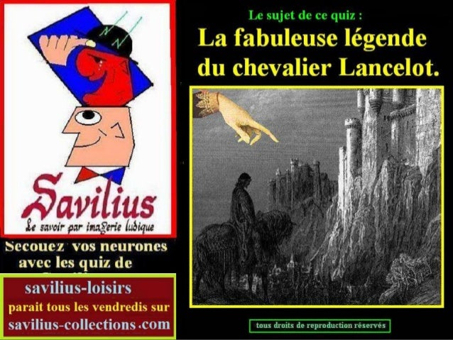La légende de Lancelot Quiz