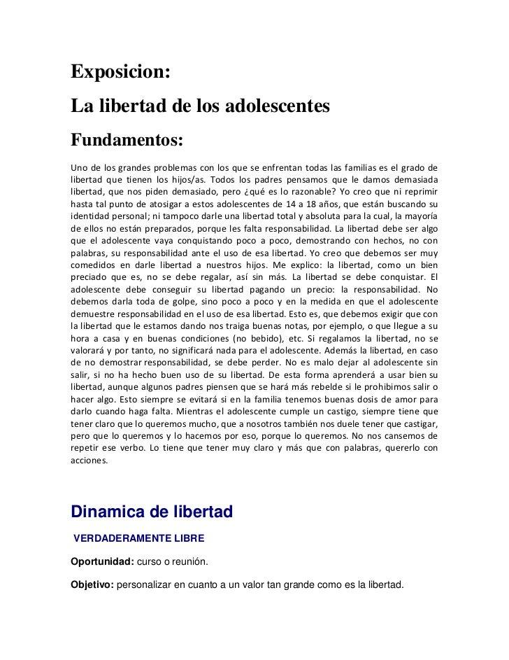 La libertad de los adolescentes