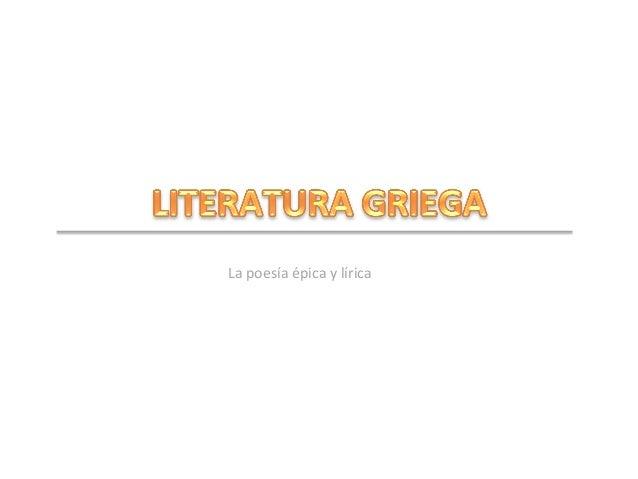 La  poesía  épica  y  lírica