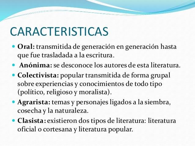 La literatura incaica for Tipos de arboles y caracteristicas