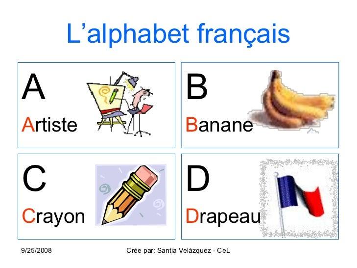 L alphabet francais for Sal9 en francais