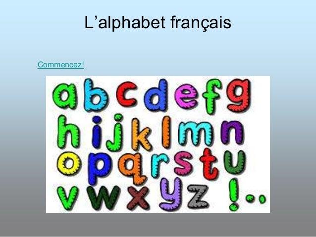 L'alphabet français Commencez!