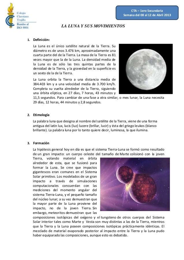 La luna y sus movimeintos