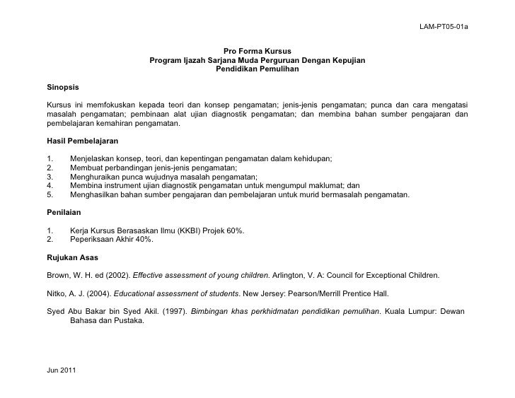 LAM PT05-01a Rancangan P&P Semester PKP3104 Kemahiran Pengamatan