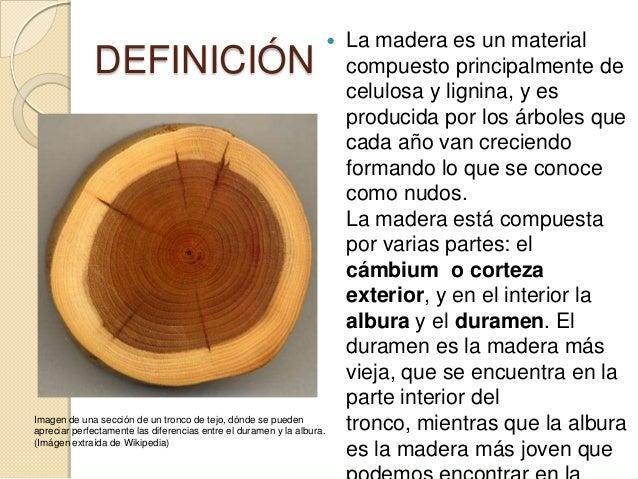 La madera for Tipos de arboles y caracteristicas