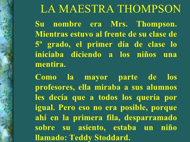 La maestra