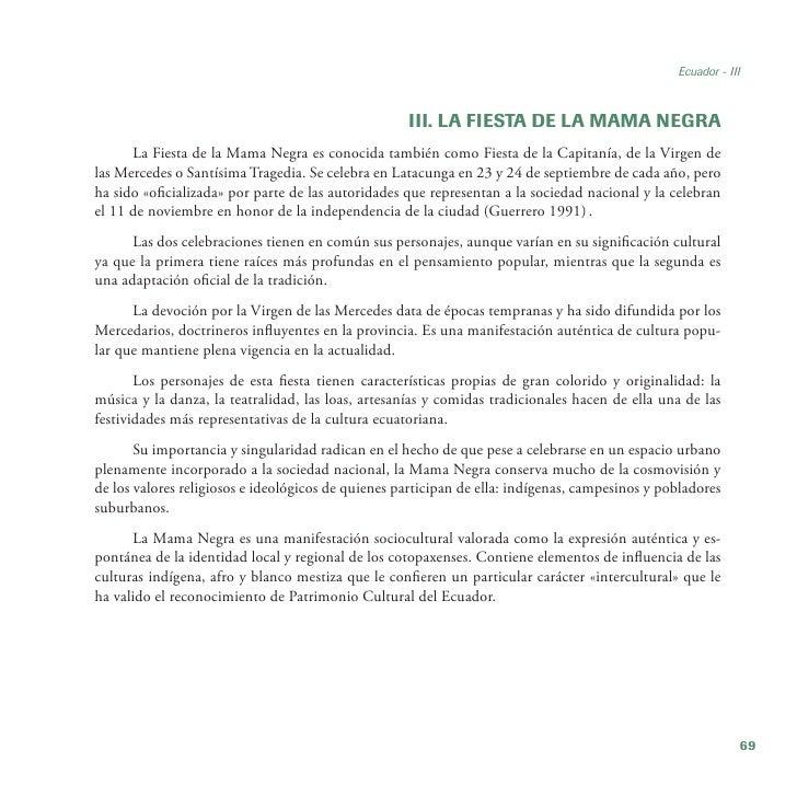 Ecuador - III                                                    III. LA FIESTA DE LA MAMA NEGRA      La Fiesta de la Mama...