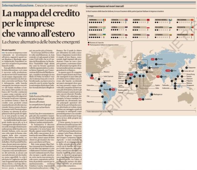 La mappa del credito per le imprese che vanno all'estero