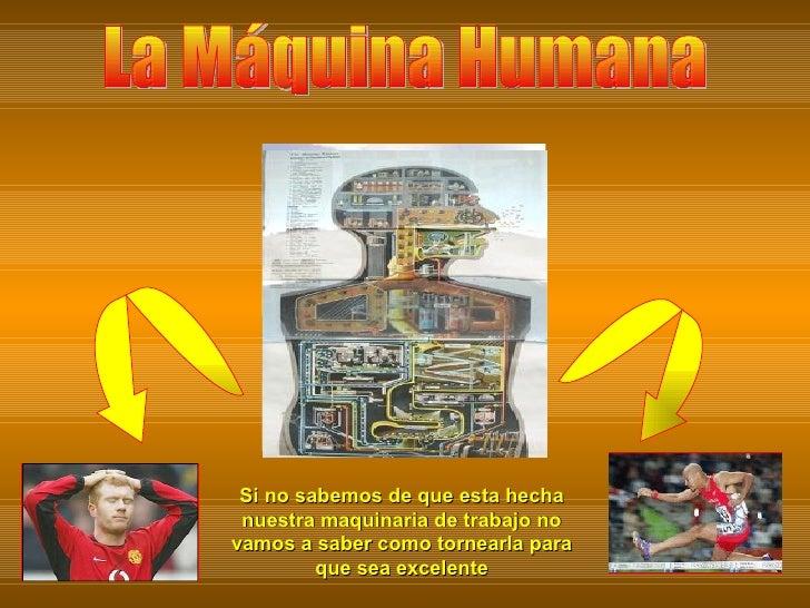La Máquina Humana Si no sabemos de que esta hecha nuestra maquinaria de trabajo no vamos a saber como tornearla para que s...
