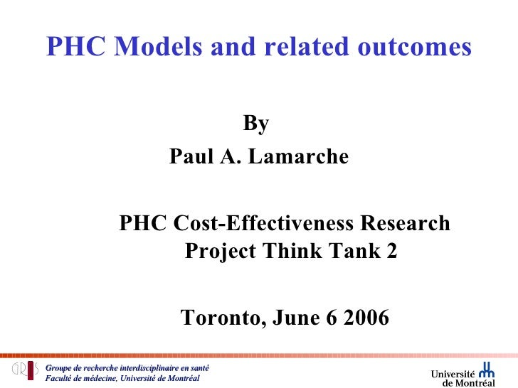 Lamarche Models And Outcomes