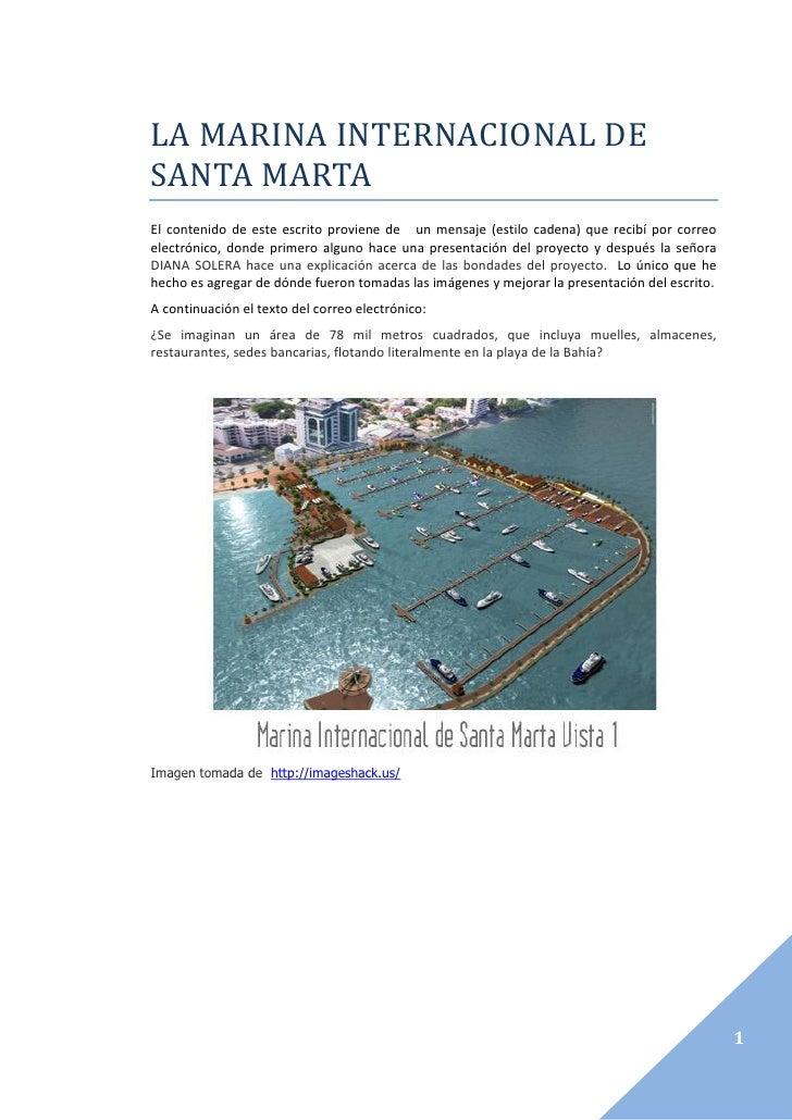 La marina internacional de santa marta