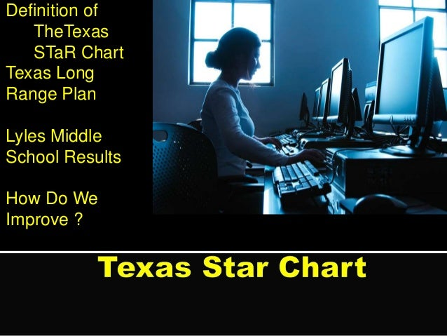 Definition of TheTexas STaR Chart Texas Long Range Plan Lyles Middle School Results How Do We Improve ?