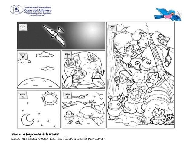 Dibujos De La Creacion Dios Para Colorear 01 Jpg Quotes