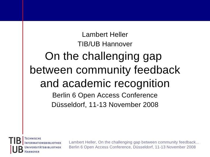 Berlin 6 Open Access Conference: Lambert Heller