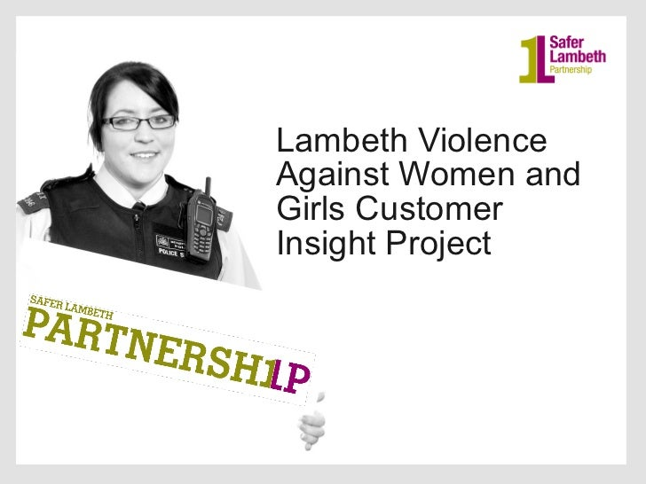 Lambeth violence against women and girls customer insight project