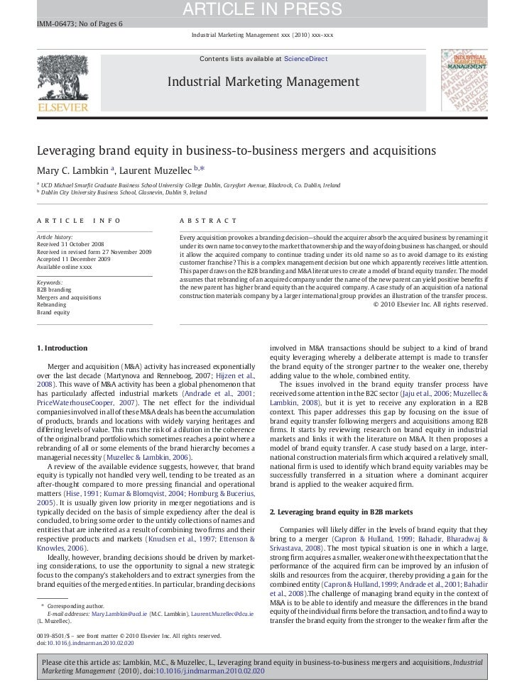 ARTICLE IN PRESSIMM-06473; No of Pages 6                                                               Industrial Marketin...