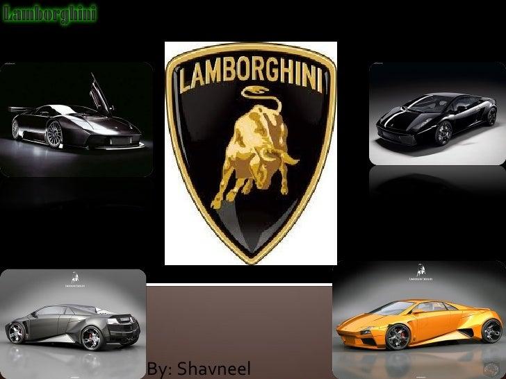 Lamborghini slide shavneel 1997