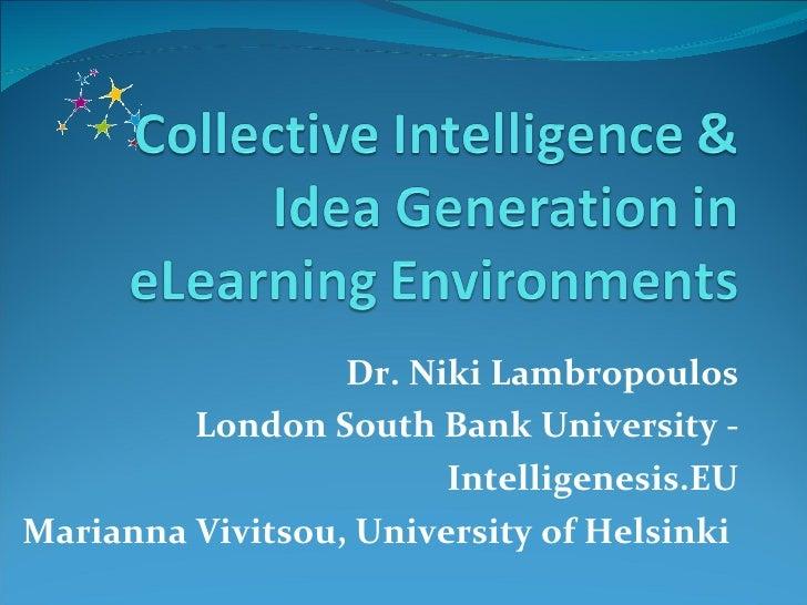Collective Intelligence and Idea Generation Lambropoulos Vivitsou