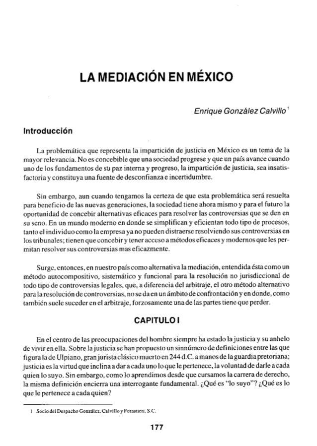 La mediacion en mexico