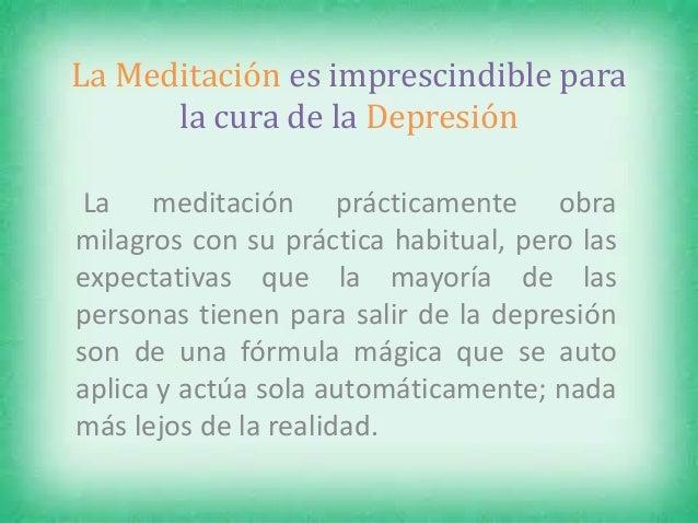 La meditaci n es imprescindible para la cura de la depresi n - Consejos para superar la depresion ...