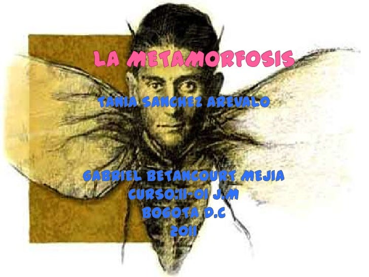 LA METAMORFOSIS<br />TANIA SANCHEZ AREVALO <br />GABRIEL BETANCOURT MEJIA <br />CURSO:11-01 J.M <br />BOGOTA D.C<br />2011...