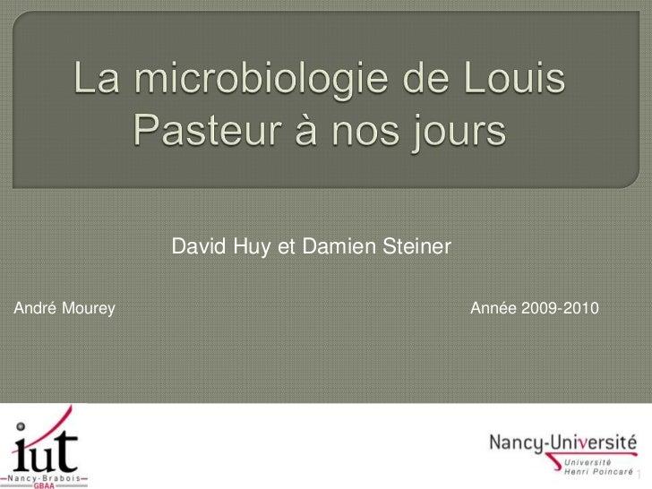 La microbiologie de louis pasteur à nos jours