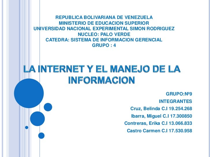 REPUBLICA BOLIVARIANA DE VENEZUELAMINISTERIO DE EDUCACION SUPERIORUNIVERSIDAD NACIONAL EXPERIMENTAL SIMON RODRIGUEZNUCLEO:...