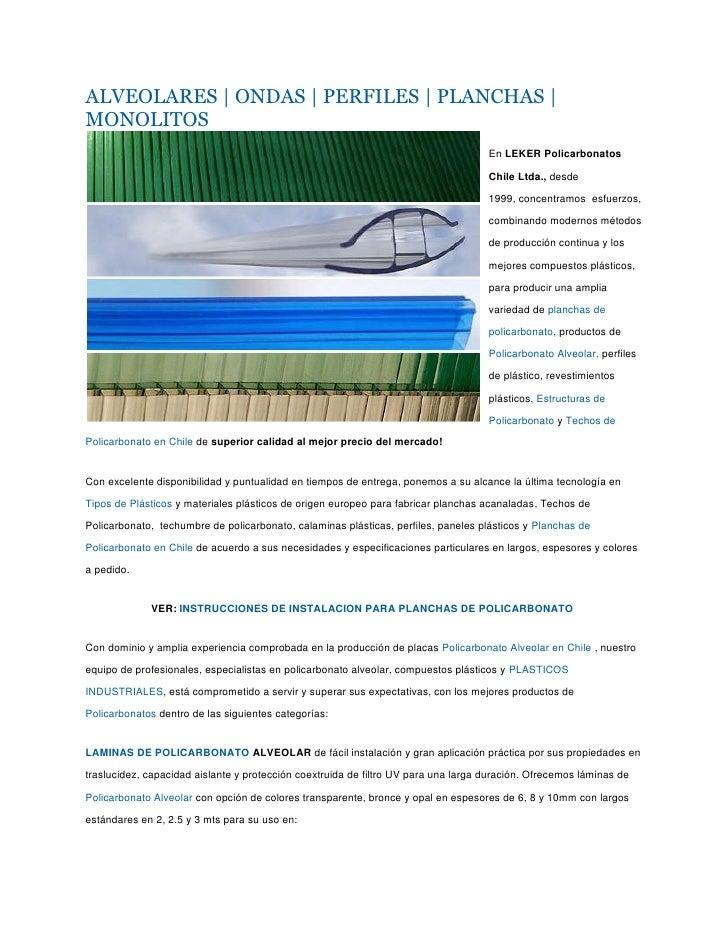 Laminas de policarbonato caracteristicas - Lamina de policarbonato ...