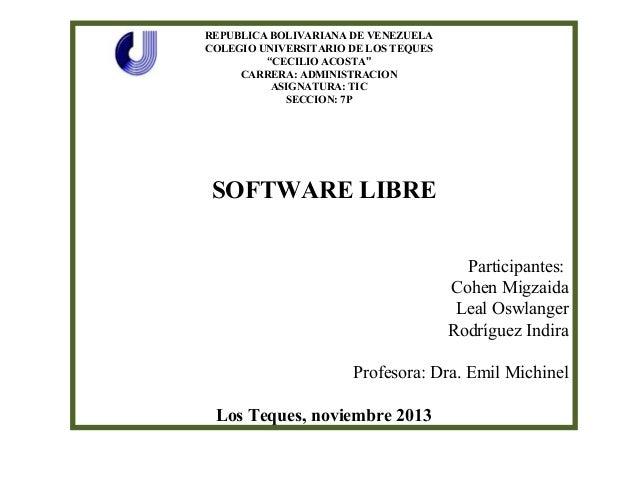 Presentación Software Libre
